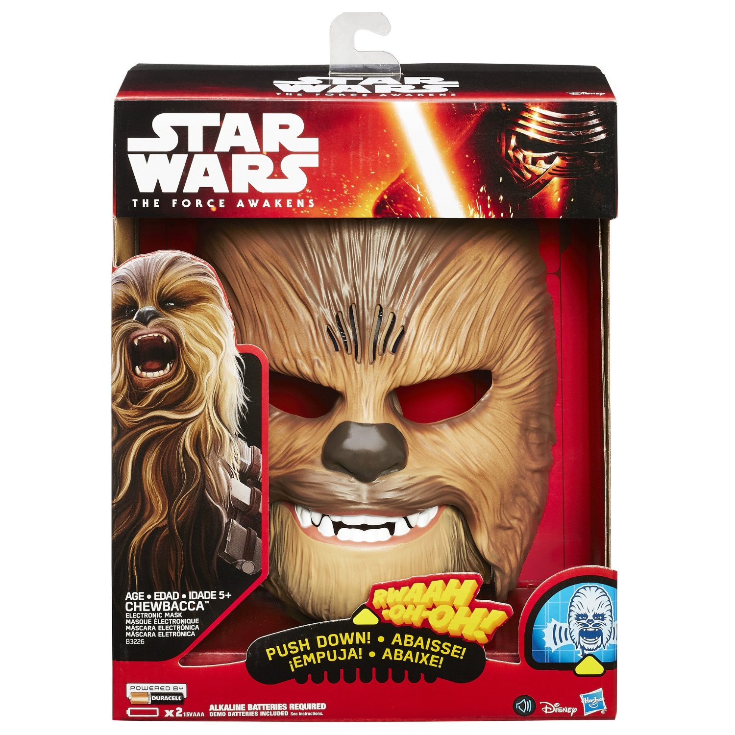 Star Wars The Force Awakens Chewbacca Electronic Mask, Hasbro