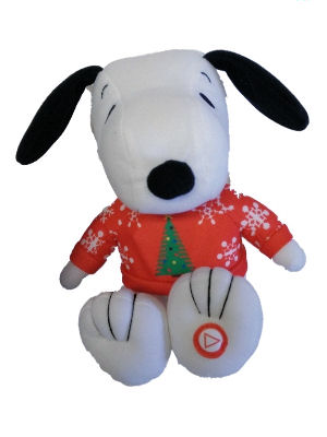 Hallmark Peanuts Christmas Plush Snoopy with Sound