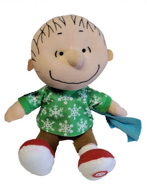 Hallmark Peanuts Christmas Plush Linus with Sound