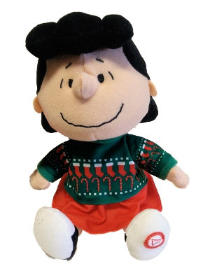 Hallmark Peanuts Christmas Plush Lucy with Sound