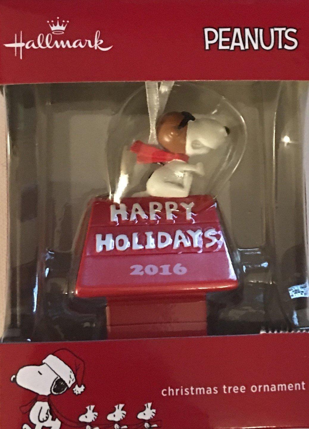 Peanuts Snoopy Happy Holidays 2016 Christmas Ornament