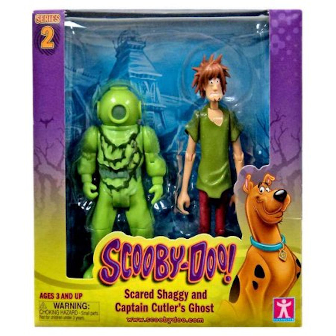 Scooby Doo Series 2 Scared Shaggy and Captain Cutler's Ghost Action Figures