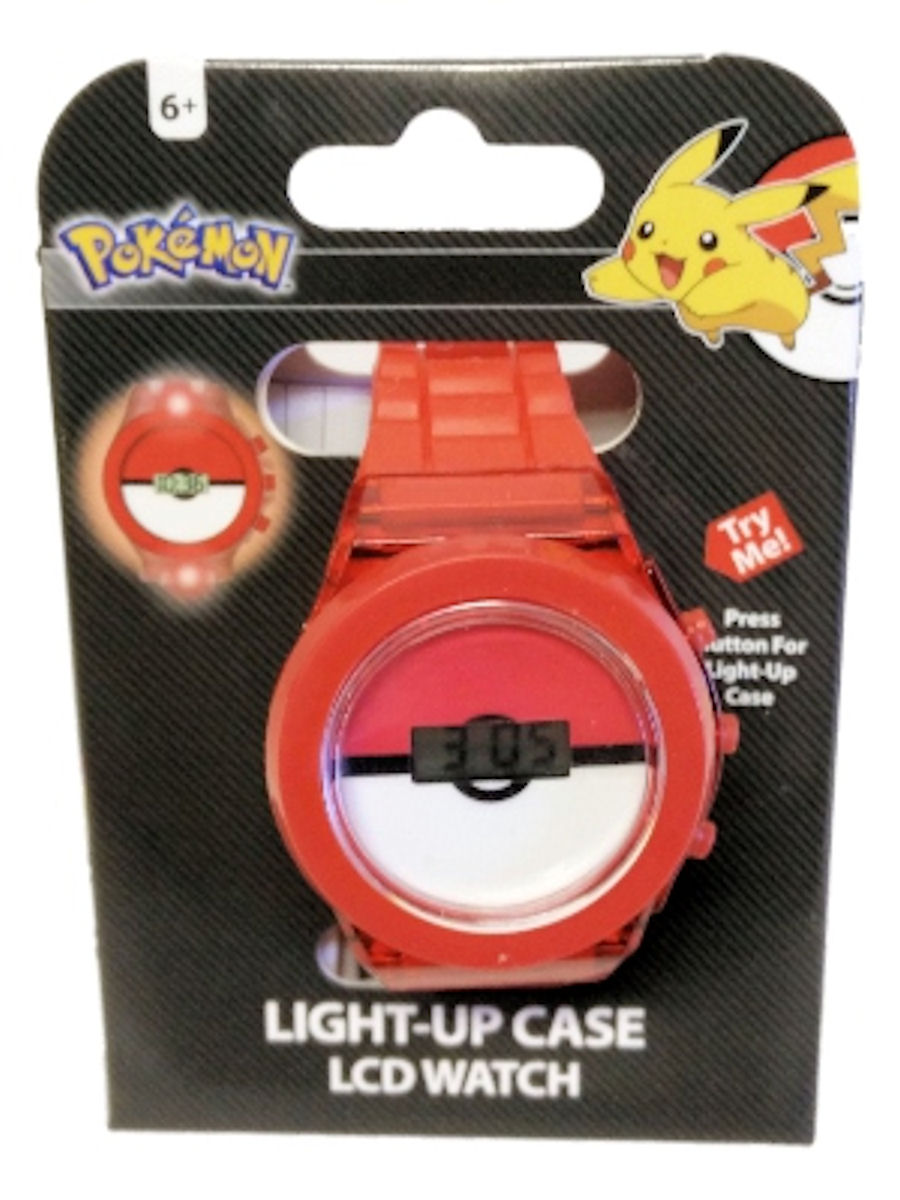 Pokemon Kids Watch Pokeball Red Strap