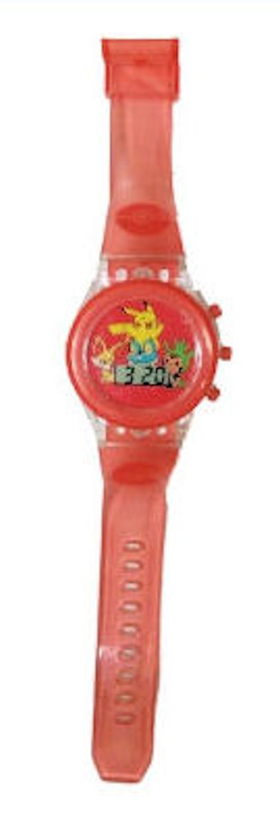 Pokemon Kids Watch Starter Characters Red Clear Light Up Strap Red Dial