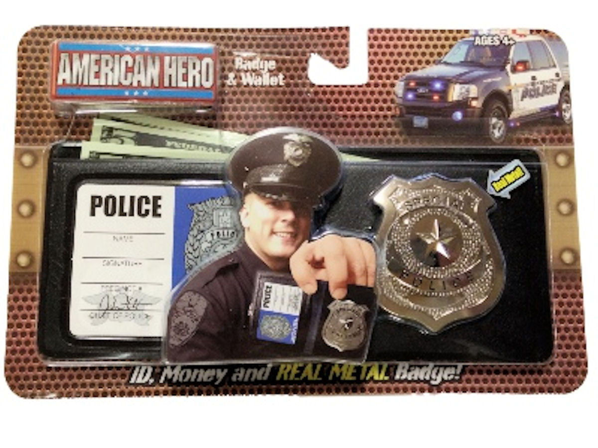 Real American Hero Metal Badge and Wallet Police