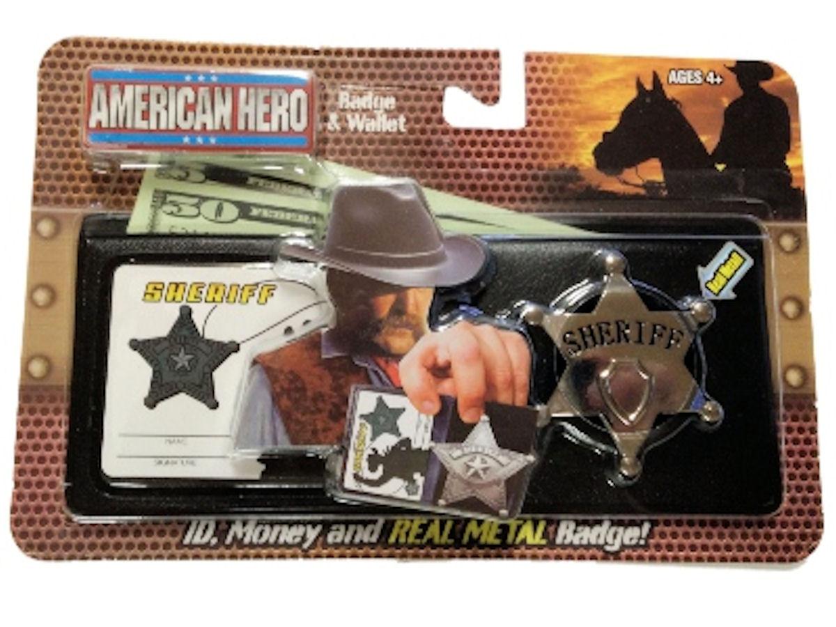 Real American Hero Metal Badge and Wallet Sheriff