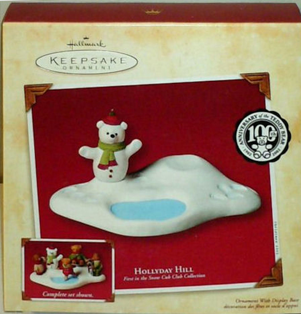 Hallmark Ornament Hollyday Hill Snow Cub Collection