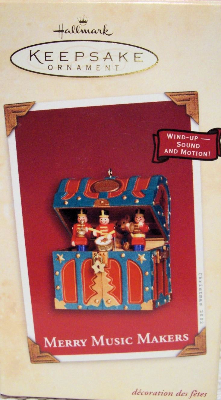 Hallmark Ornament 2002 Merry Music Makers Wind Up Music