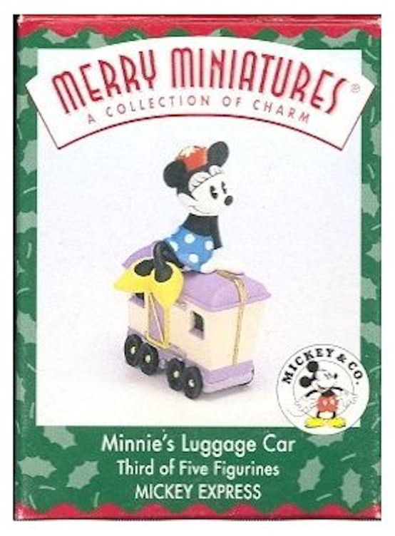 Hallmark Ornament 1998 Minnie's Luggage Car Tabletop Figure