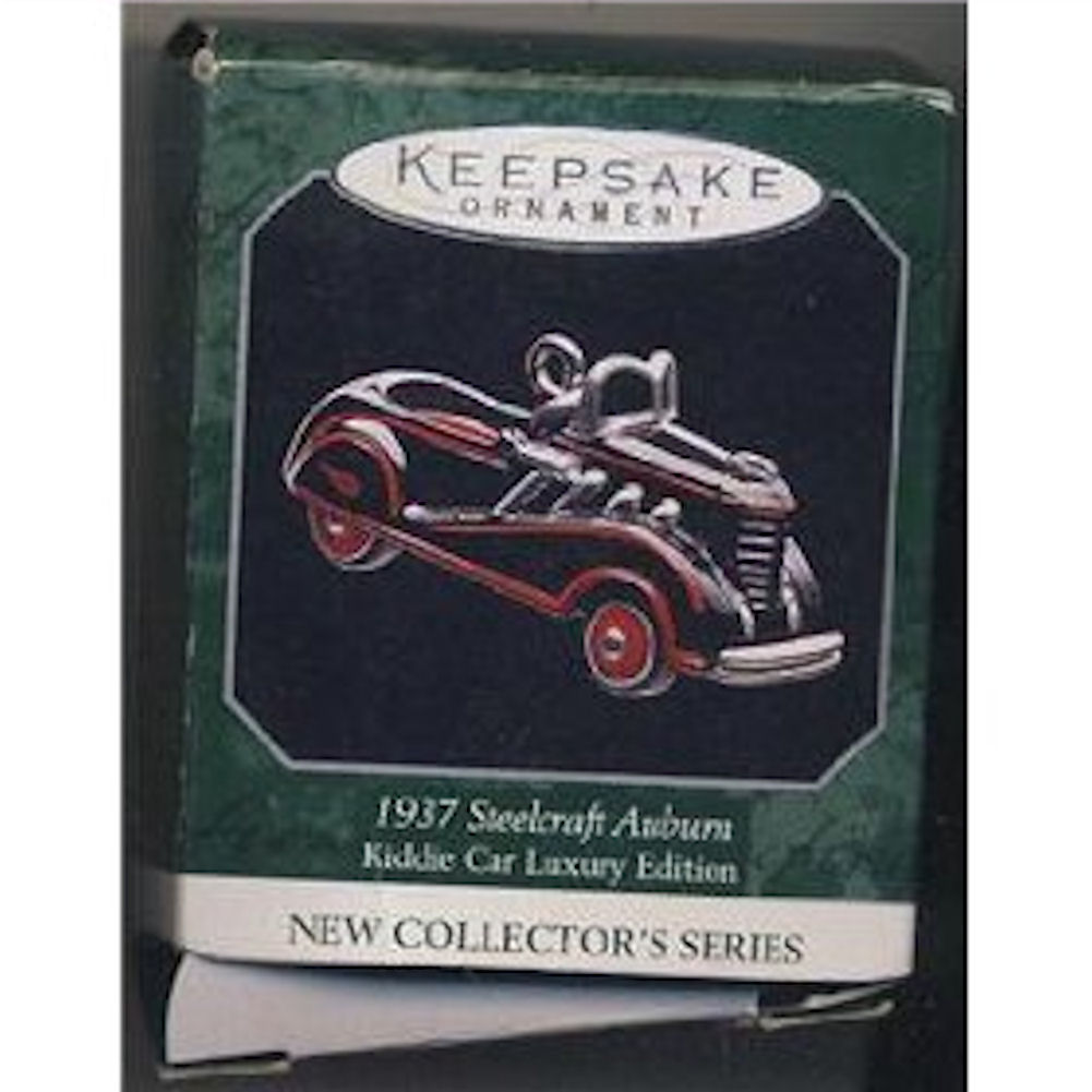 Hallmark Ornament 1998 1937 Steelcraft Auburn Luxury Edition Kiddie Car Classics Miniature