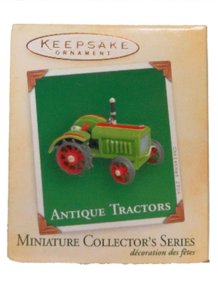 Hallmark Ornament 2004 Antique Tractors Miniature