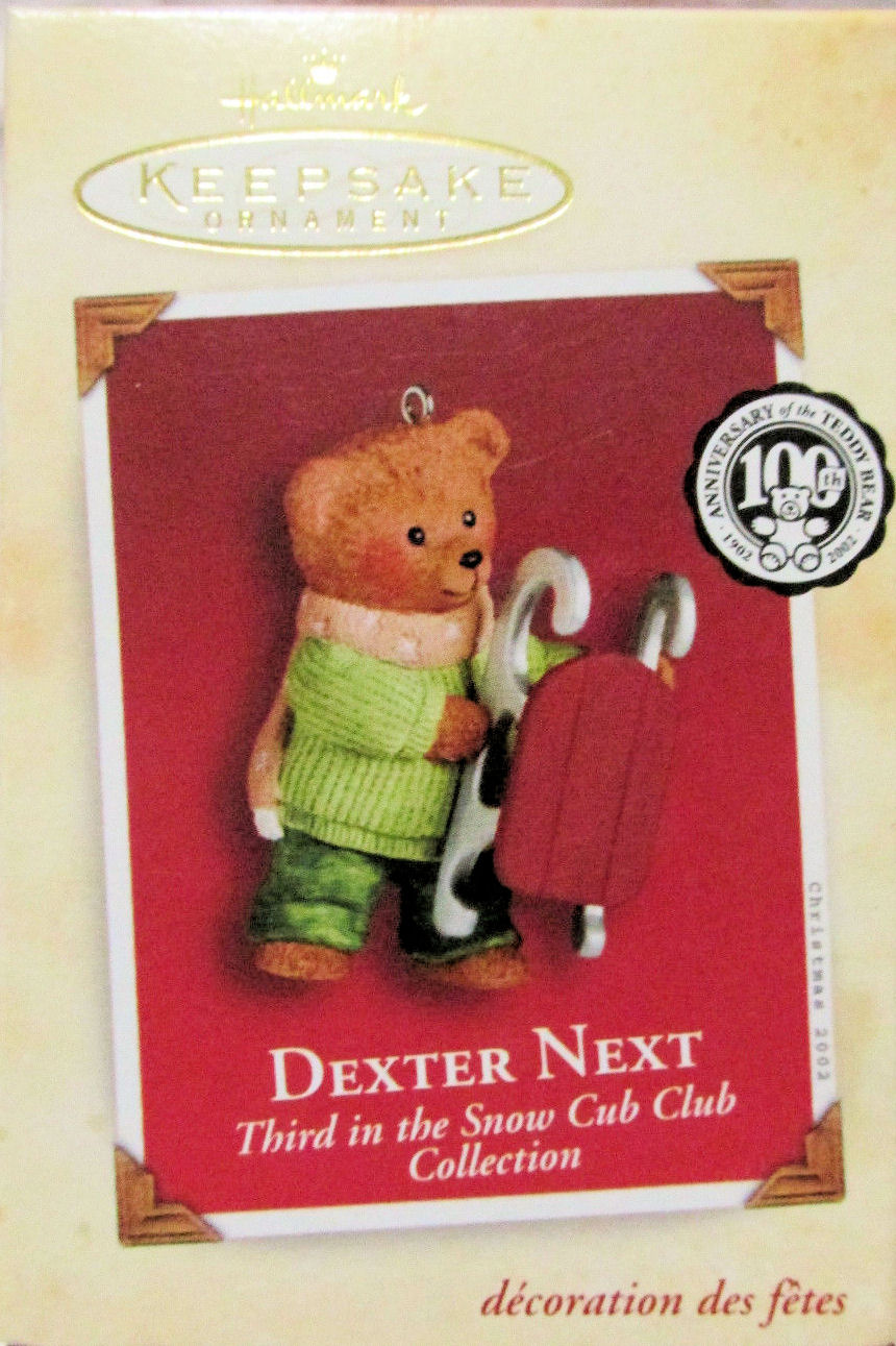 Hallmark Ornament 2002 Dexter Next Third in Series of Snow Cub Club Collection