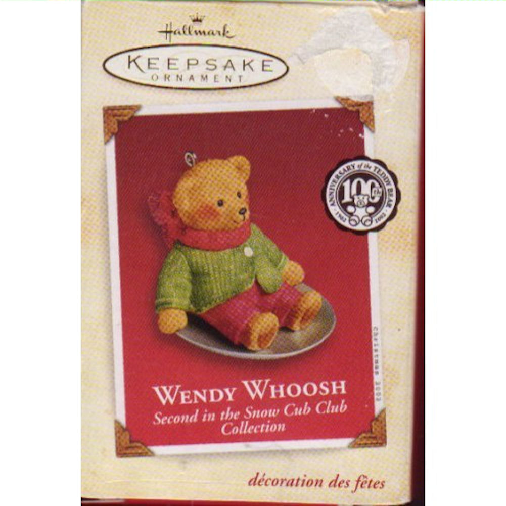 Hallmark Ornament 2002 Wendy Whoosh 2nd in Snow Cub Club Collection