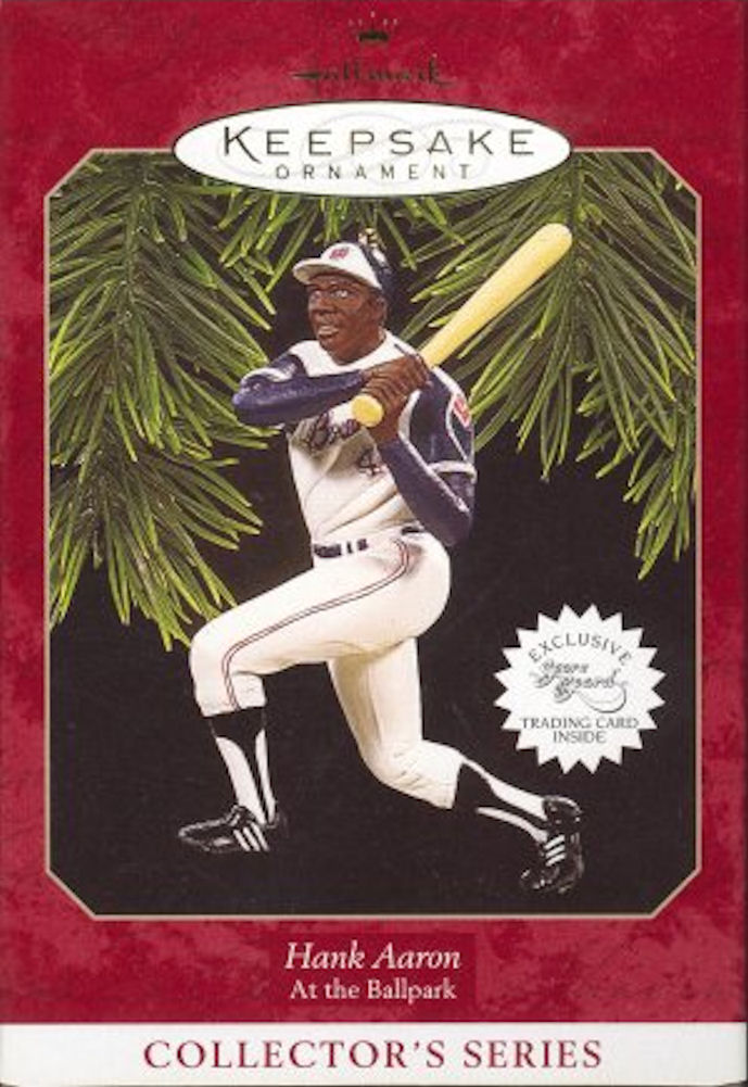 Hallmark Ornament 1997 Hank Aaron At the Ballpark