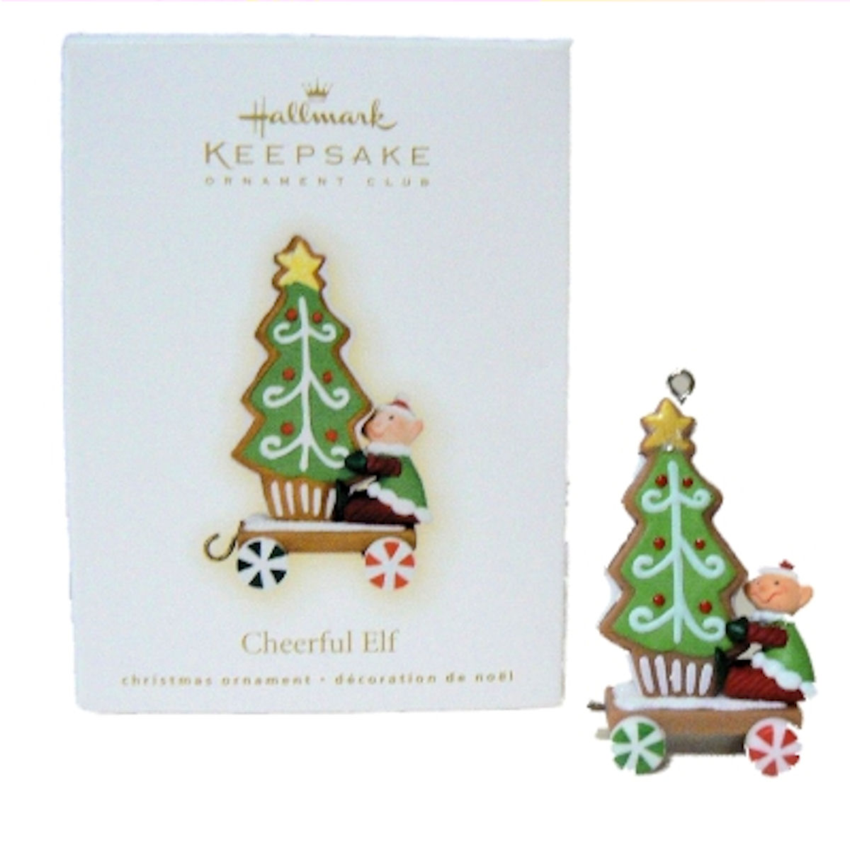 Hallmark Ornament 2009 Cheerful Elf and Cookie