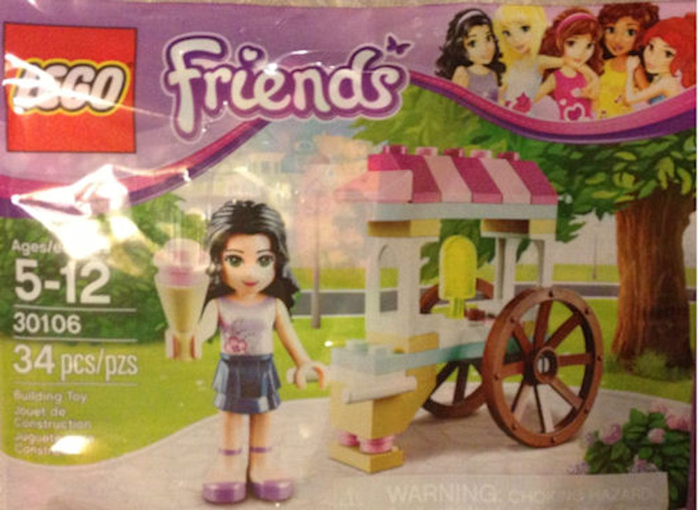 LEGO Friends 30106 Emma with Ice Cream Cart Stand
