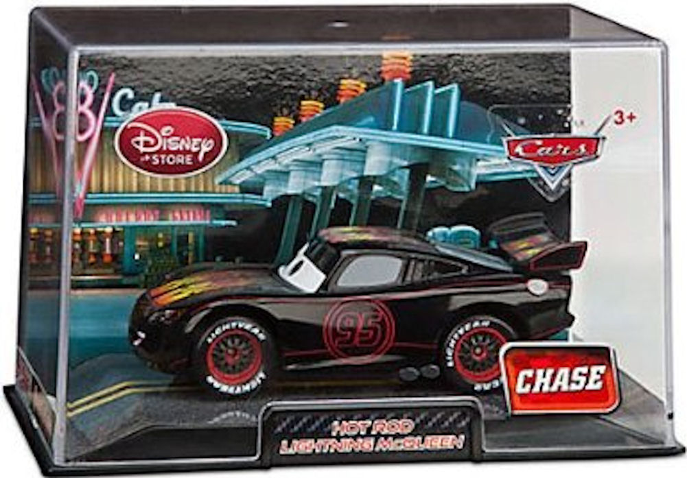 Disney Pixar Cars 1:48 Die Cast Car In Plastic Case Hot Rod Lightning McQueen