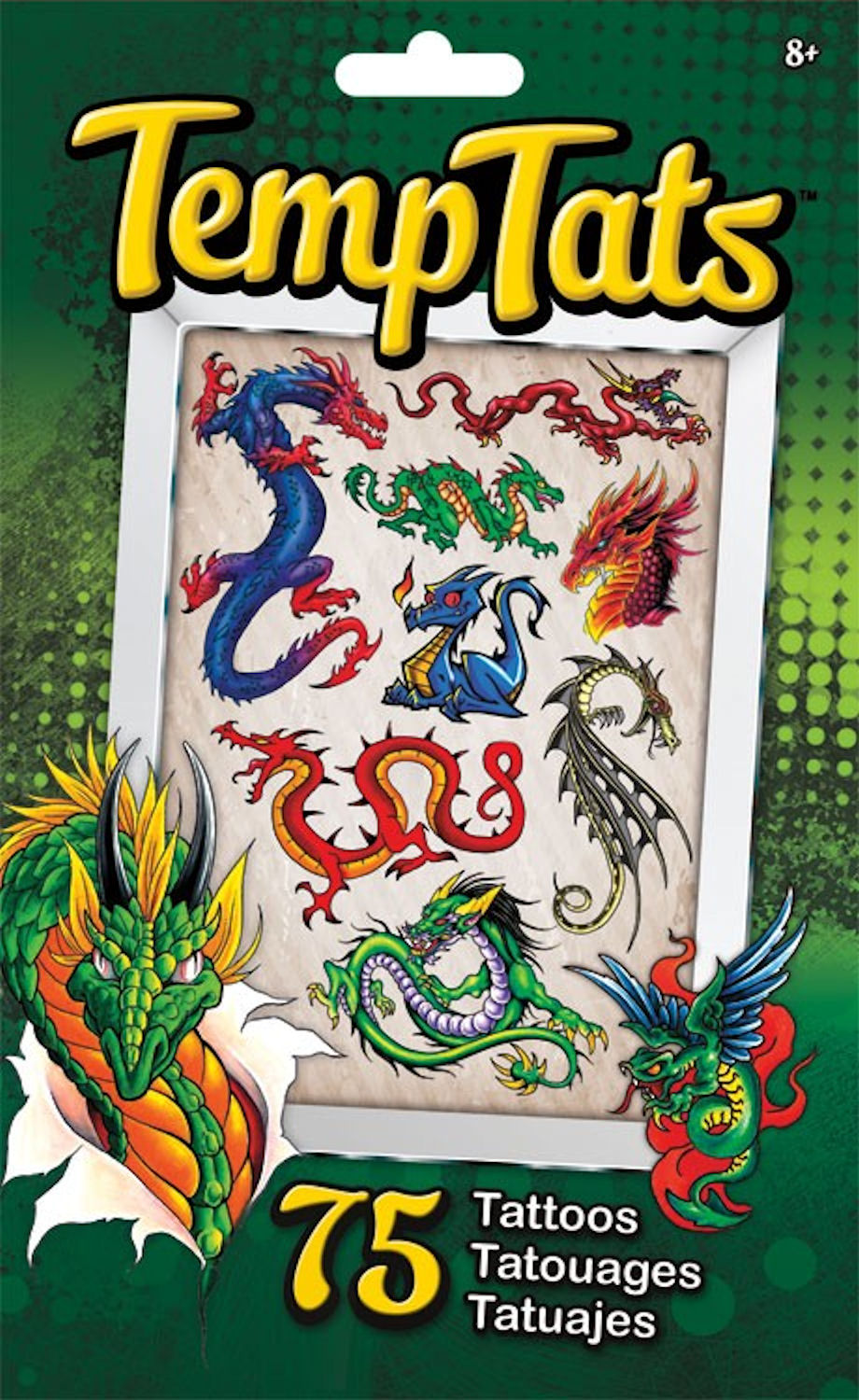 TempTats Temporary Tattoos Dragons