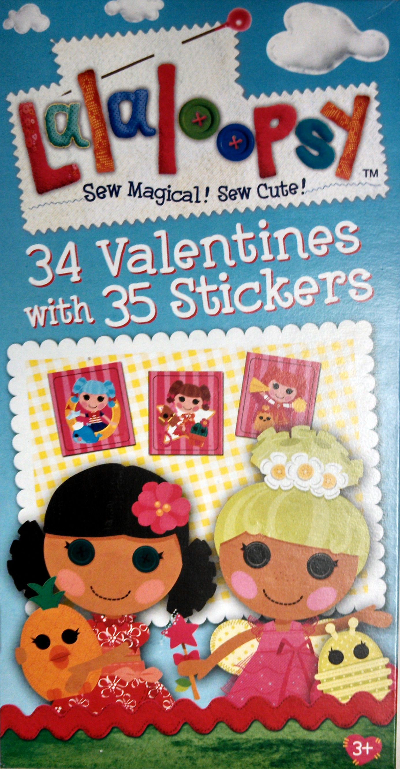 Lalaloopsy 34 Valentines Cards with Stickers
