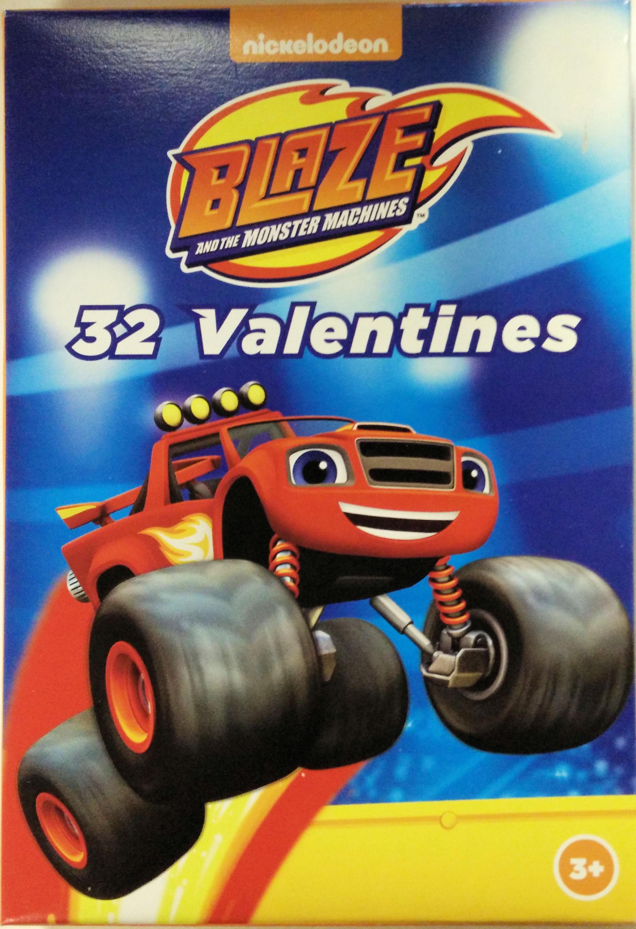 Nickelodeon Blaze 32 Valentines Cards