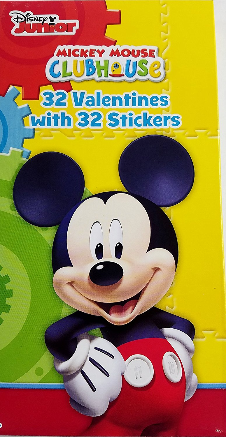 Disney Junior Mickey Mouse Club House 32 Valentines With 32 Stickers